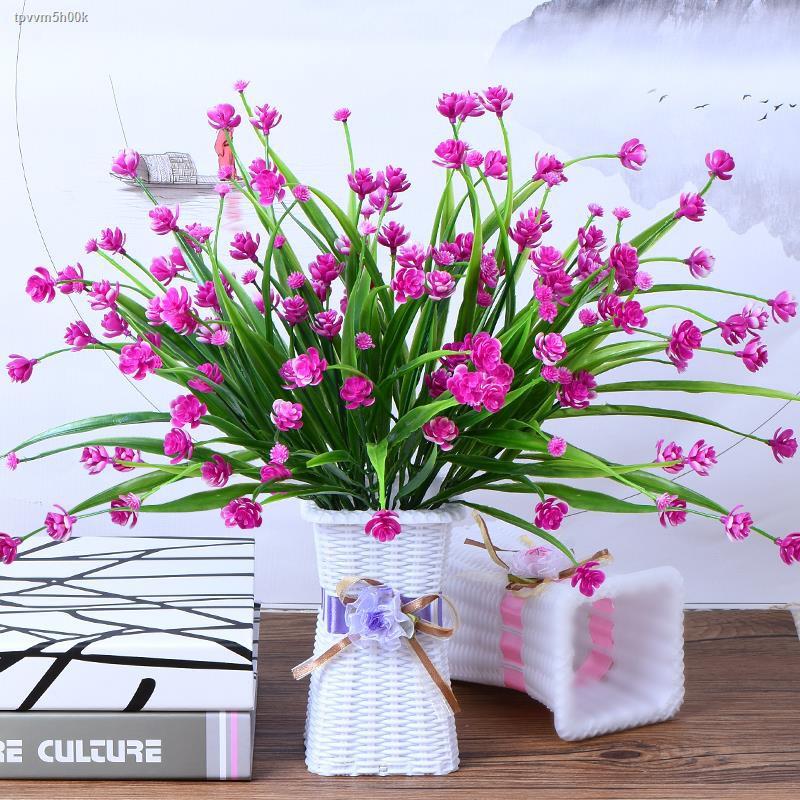 การจำลองพันธุ์ไม้อวบน้ำ✔✶▦>ห้องนั่งเล่นดอกไม้กระถางดอกไม้ปลอมกับแจกันโต๊ะข้างเตียงโต๊ะจำลองการจัดดอกไม้ชุดดอกไม้ปลอมผ้าต