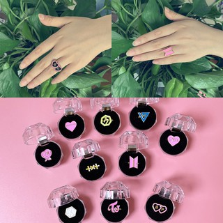 Review KPOP BTS BLACKPINK TWICE GOT 7 Alloy Ring