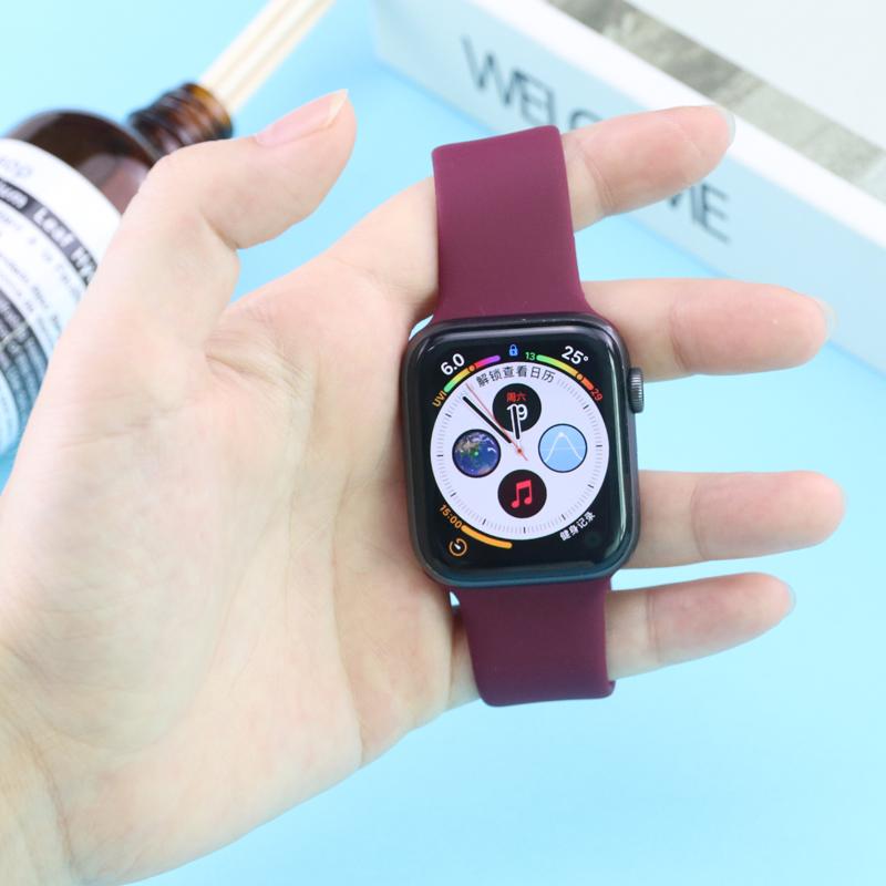 เคสซิลิโคน สำหรับ Apple Watch Series รุ่น SE 6 5 4 3 2 1 ขนาด 38 มม 40 มม 42 มม 44 มม สายนาฬิกาข้อมือ สาย applewatch 7Df