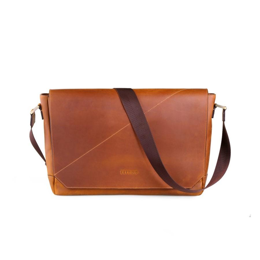 33dc68288ce28 ZETTINO พร้อมส่ง รุ่น Classic 15″ Messenger Bag