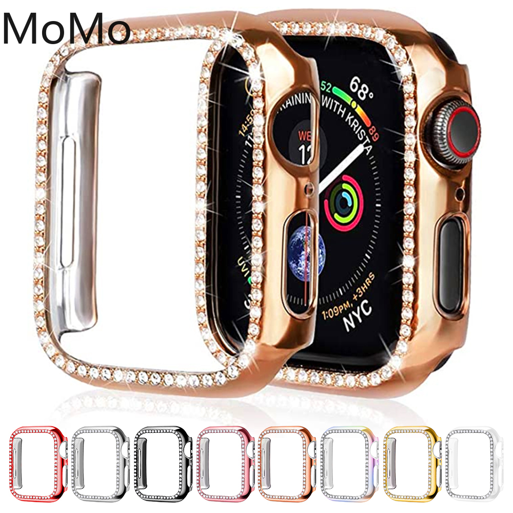 Diamond Bumper Protective Case for Apple Watch Cover Series 6 SE 5 4 3 21 38MM 42MM Cases For Iwatch 40mm 44mm watch accessories