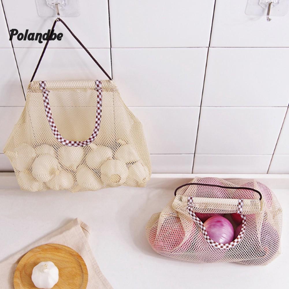 Fruit Vegetable Garlic Onion Storage Hanging Bag Mesh Bag Kitchen Organizer