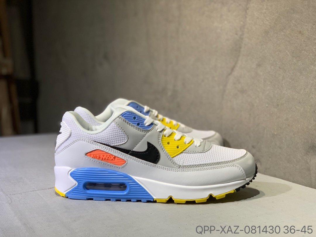 Nike Air Max 90 ซีรีส์คลาสสิกเบาะลมเล็กรองเท้ากีฬารองเท้าจ๊อกกิ้ง