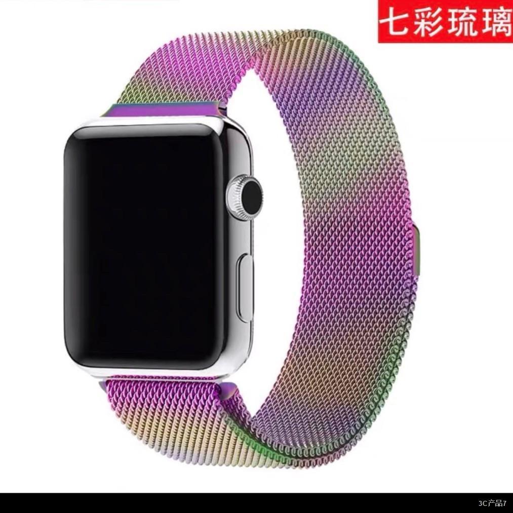 ∈❇สายเปลี่ยนนาฬิกาข้อมือ AppleWatch Band Milanese Loop Series 1 2 3 4 5 6 44 มม 40 มม 38 มม 42 มม สาย applewatch 6 se 4.