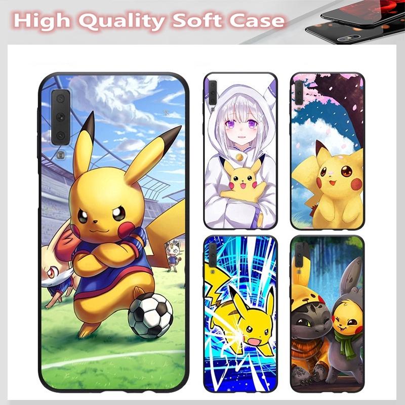 casing for SAMSUNG A2 CORE J7 Pro J7 PLUS A6 A6+ A7 A8 A8+ A8 Star A9 2018 Cover Pikachu Soft Case