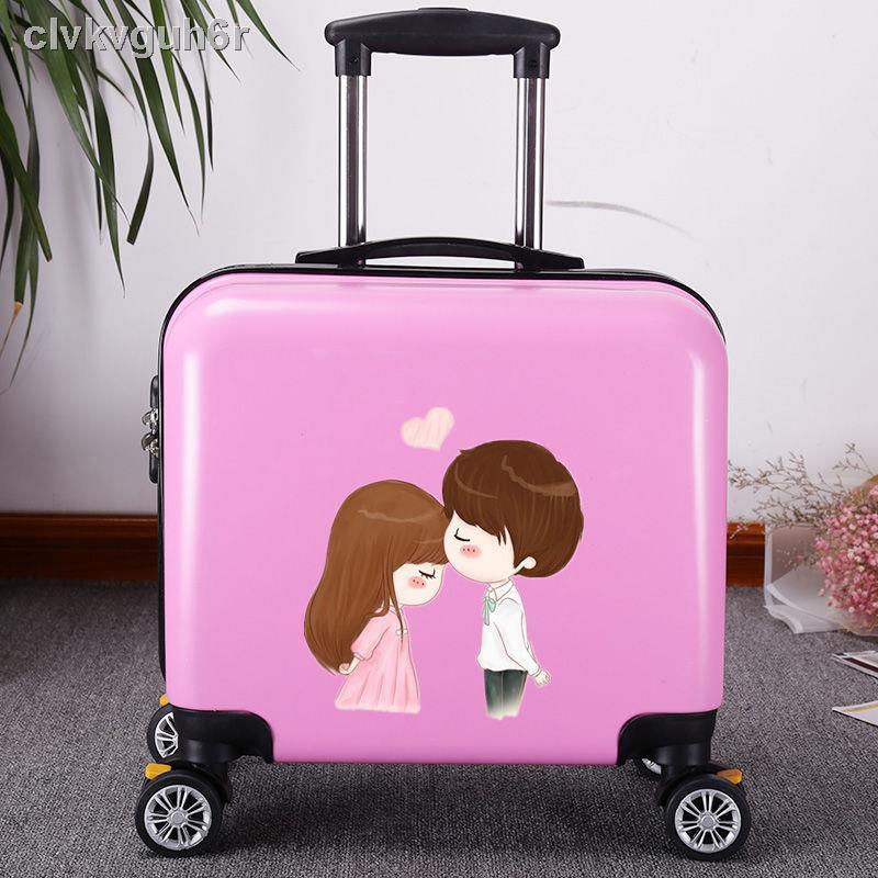 🍒ราคาถูก เวอร์ชั่นเกาหลีของกระเป๋าเดินทางขนาดเล็กหญิง 16 นิ้วมินิกระเป๋าเดินทาง 18 นิ้วสากลล้อกระเป๋าเดินทางชายธุรกิจร