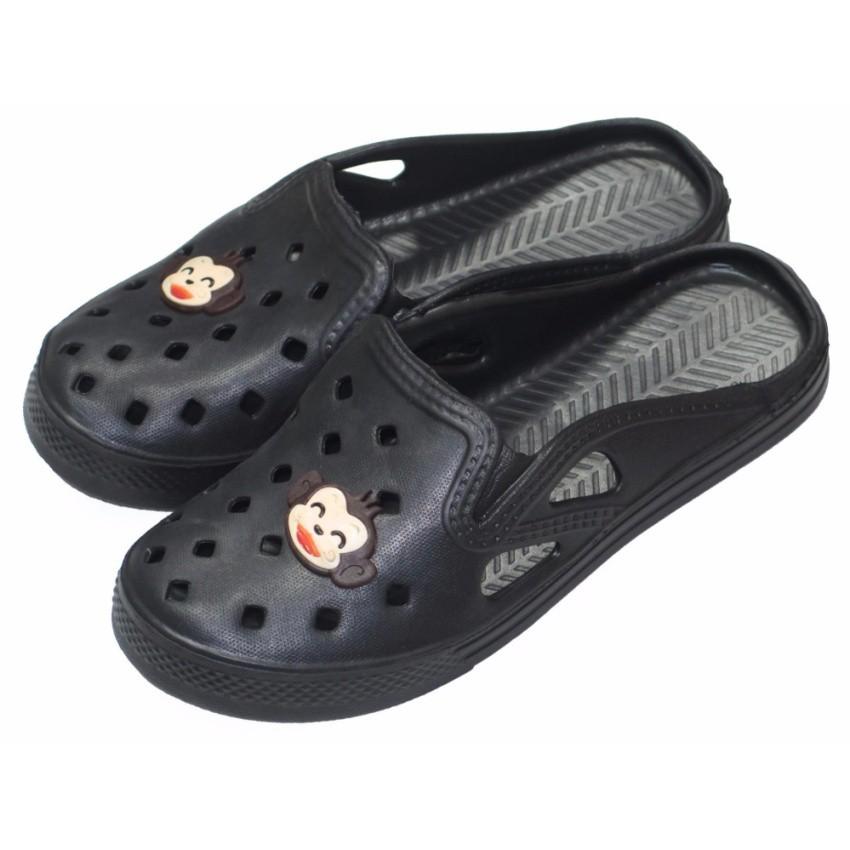 รองเท้าแตะ Prado Gang รองเท้าคัชชู ไฟล่อน สวม ผู้หญิง รุ่น 9000-B - สี ดำ