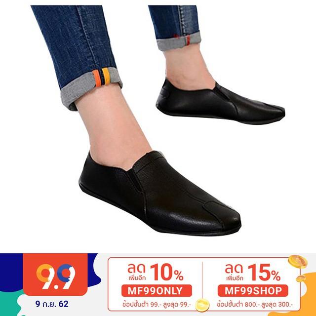 รองเท้าคัชชูผู้ชาย รองเท้าหนังผู้ชาย MMC รองเท้าหนังสุภาพบุรุษ (สีส้ม)(สีดำ)(ขาว) รุ่น 9114