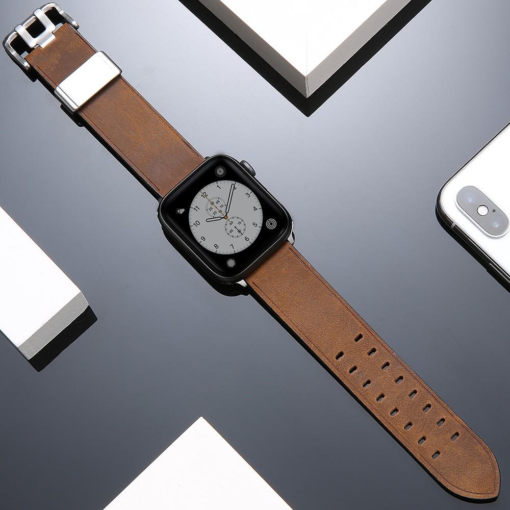 บังคับiwatch6สายหนังapplewatch5/SEสายนาฬิกาผู้ชายและผู้หญิงแฟชั่นใหม่สำหรับ Appleiwatch4/3/2/1รุ่น 42mm38seriesสายรัดระบ