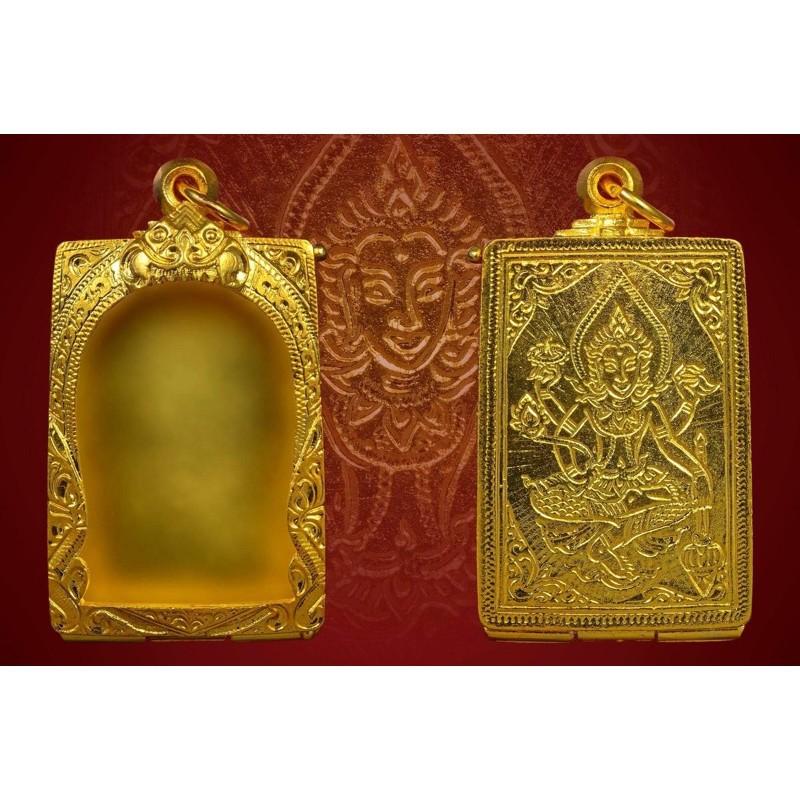 ทองครึ่งสลึง แหวนทอง 1 สลึง ทอง .5 >>ตลับเงินชุปทองคำ96.5%สำหรับใส่พระสมเด็จ (ปิดหลังลายพระ)