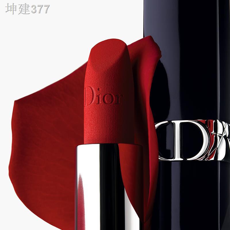 ∏✚[ของแท้อย่างเป็นทางการ] Dior Dior Blue Gold Lipstick ลิปสติก Legend Red Lips 999 Velvet New Color 720
