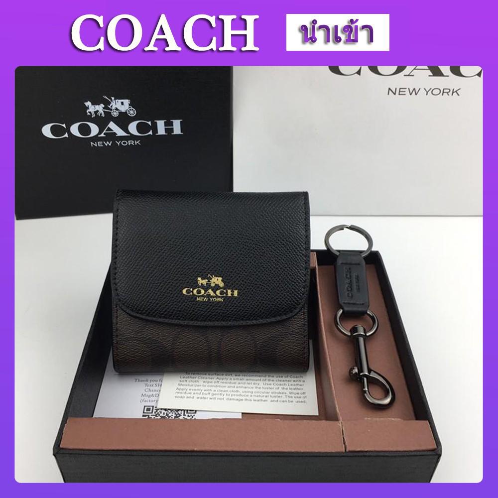 ใหม่coach แท้ กระเป๋าสตางค์ coach กระเป๋าสตางค์ผู้หญิง  F53779 กระเป๋าสตางค์ใบสั้น