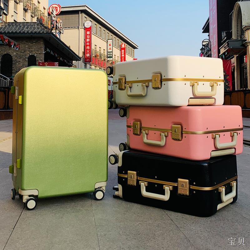 ✎♂>กระเป๋าสัมภาระ Wuji สีแดง กระเป๋าเดินทางขนาดเล็ก รหัสผ่าน 20 นิ้ว กระเป๋าเดินทางหนังขึ้นเครื่อง 24 ใบ สำหรับผู้ชายและ
