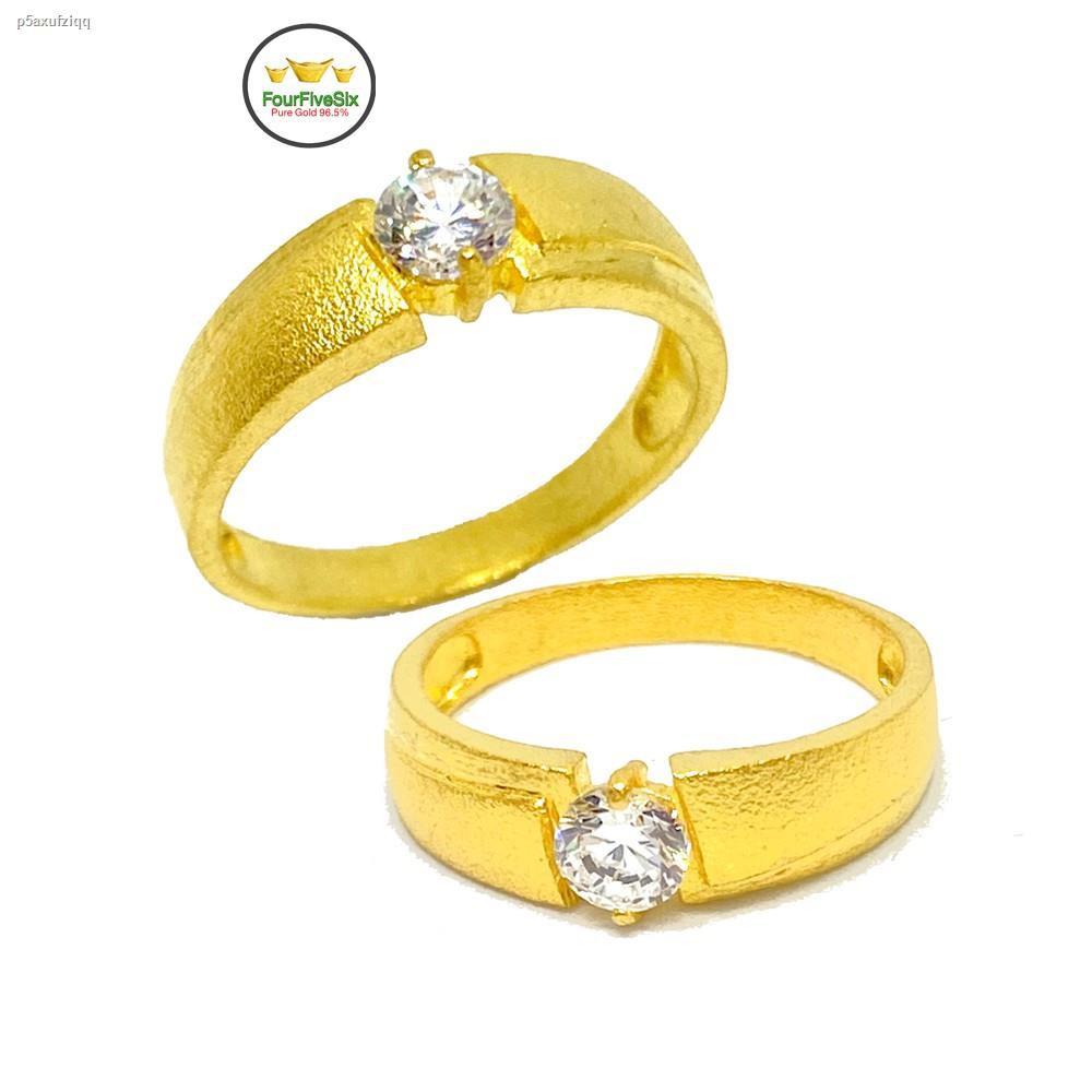 ราคาต่ำสุด✷FFS แหวนทอง 1 สลึง เพชรสวิสเม็ดเดียว หนัก 3.8 กรัม ทองคำแท้ 96.5%