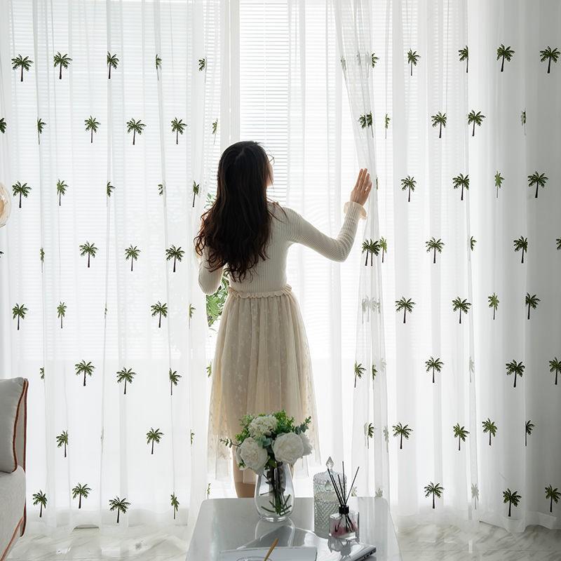 💎 ▦ผ้าม่าน ม่าน ม่านห้องนอน ผ้าม่านกันแสง ผ้าม่านแบบแขวน ผ้าม่านสำเร็จรูป โปร่งแสงผ้าโปร่ง (1 ผืน)