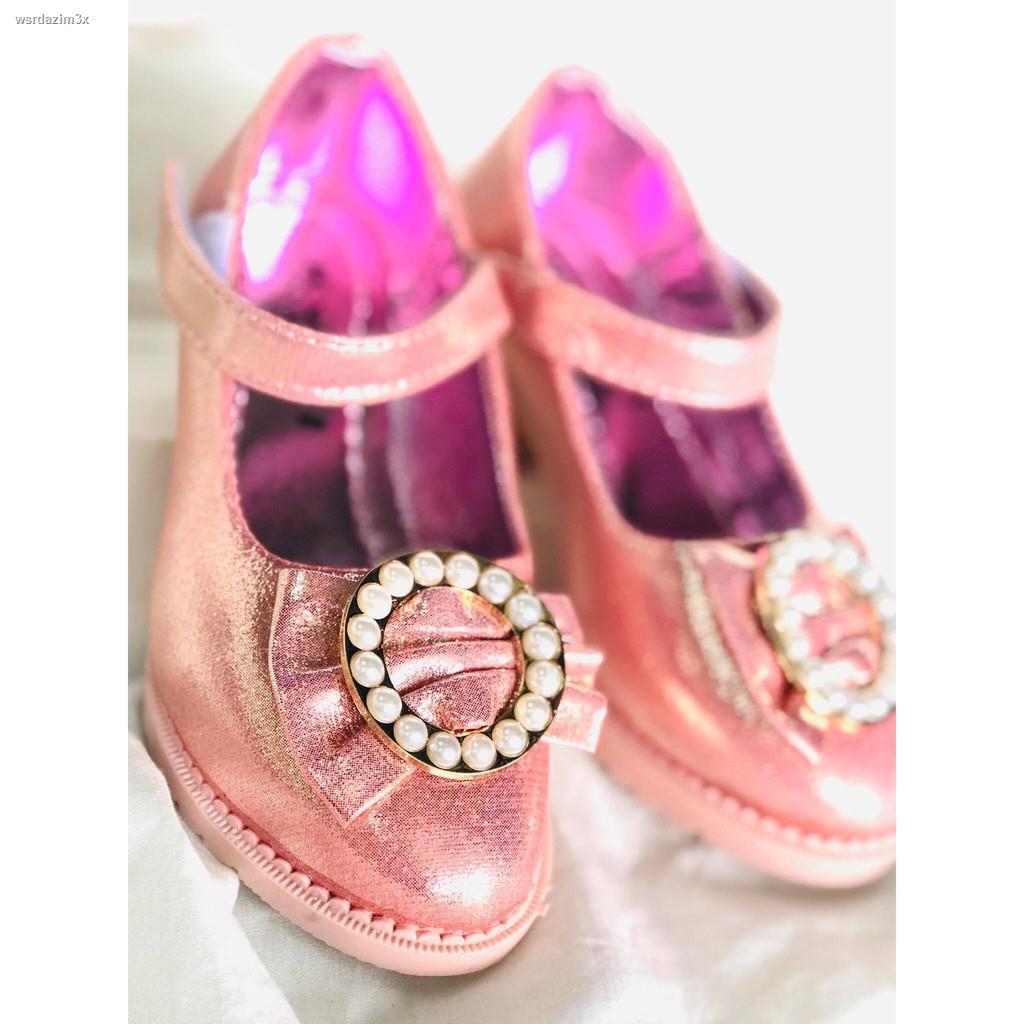 Lowest price♝✽รองเท้าคัชชูเด็ก  รองเท้าเจ้าหญิงเด็ก รองเท้าส้นสูงเด็ก