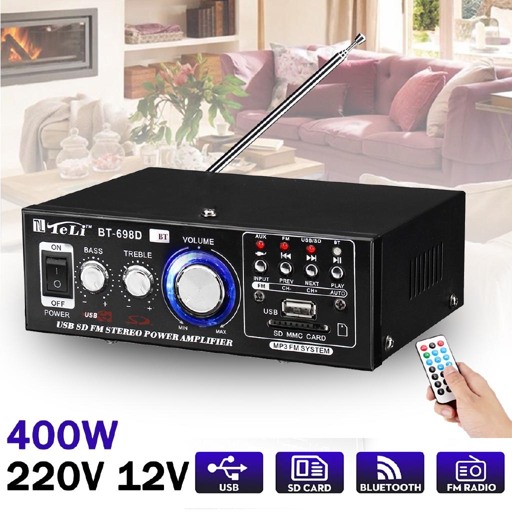 Mini Car Radio Audio 400 W HIFI Power Stereo Amplifier bluetooth USB FM SD  0e1a0e490e320e19