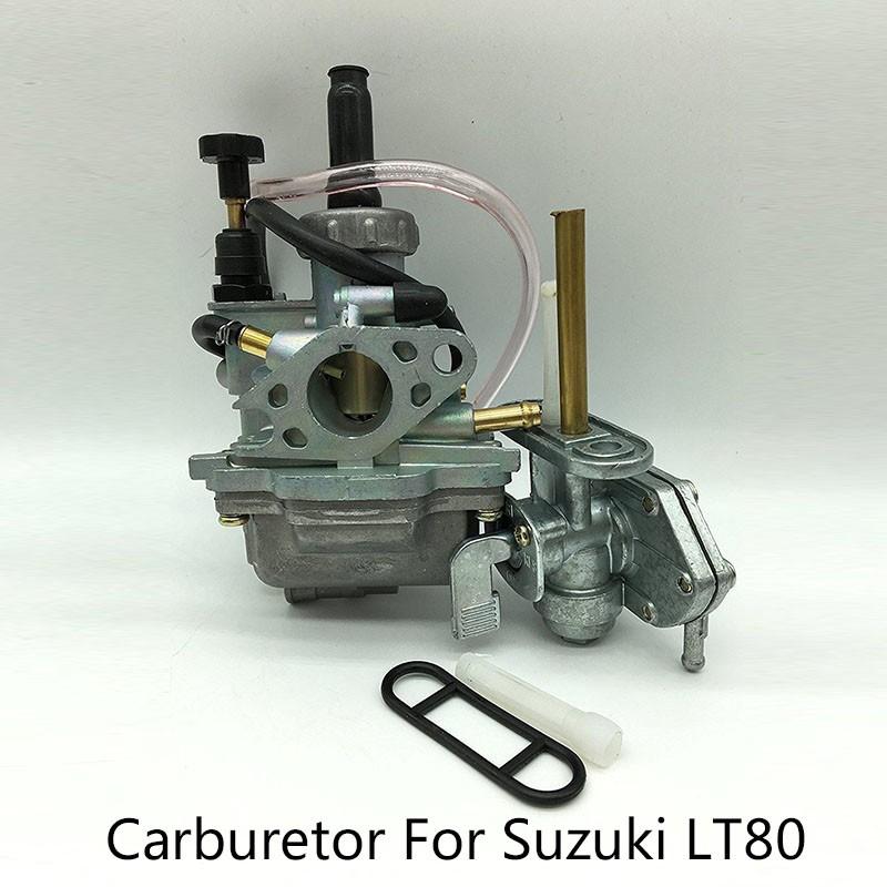 Find Price Carburetor For Suzuki LT80 Quadsport w/ Fuel Gas Petcock