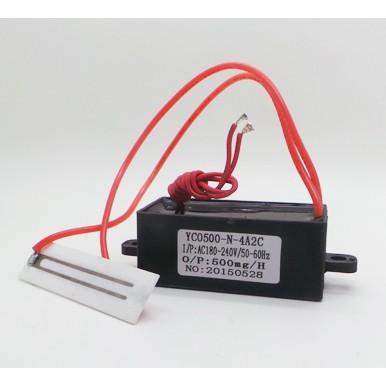 เครื่องผลิตโอโซน แผ่นเพลทเซรามิคผลิตโอโซนบริสุทธิ์ YC0500-N-4A2C Ceramic Plate Ozone Generator 500mg/h AC180-240V