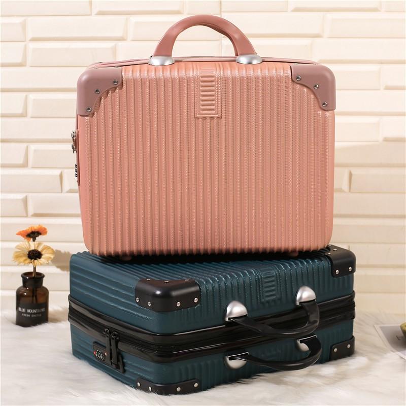 กระเป๋าเครื่องสำอางแบบพกพากระเป๋าเดินทางขนาดเล็กหญิง14นิ้วมินิแพคเกจ16กรณีแต่งหน้าน่ารักพกพาขนาดเล็ก