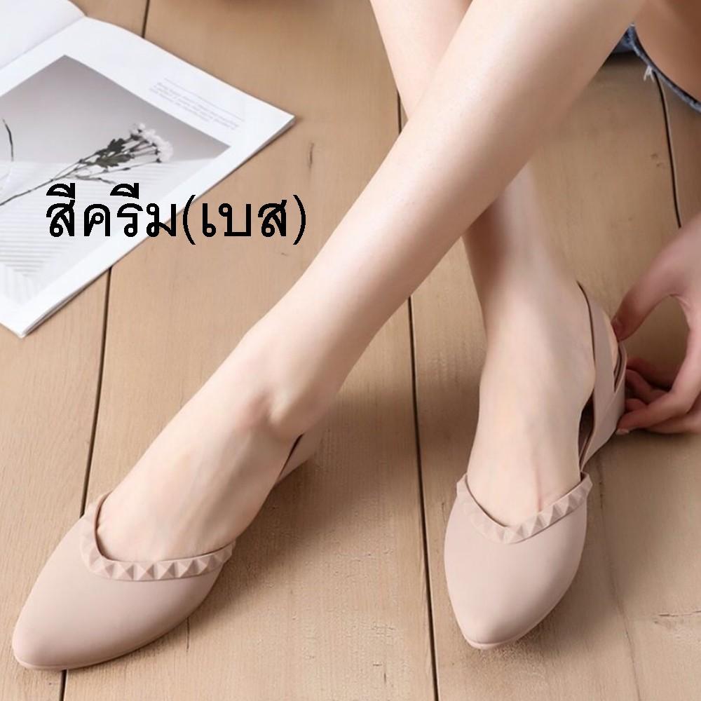 รองเท้าคัชชูหัวแหลม มีส้น รองเท้าคัชชู รองเท้าสวย รองเท้าแฟชั่น หัวแหลม สวย รองเท้าผู้หญิง จำนวน 1 คู่ #1