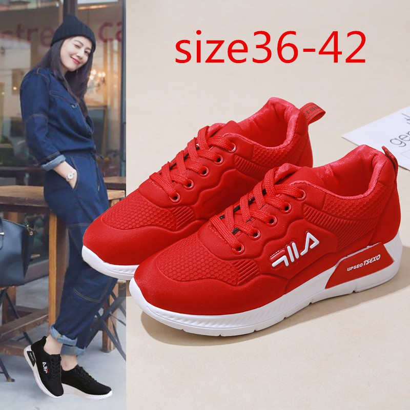 ✺♠♘Women's sneakers Filaรองเท้าผ้าใบแบรนด์เนมรองเท้ากีฬาผู้หญิงรองเท้าวิ่ง2 สีการเคลื่อนไหว