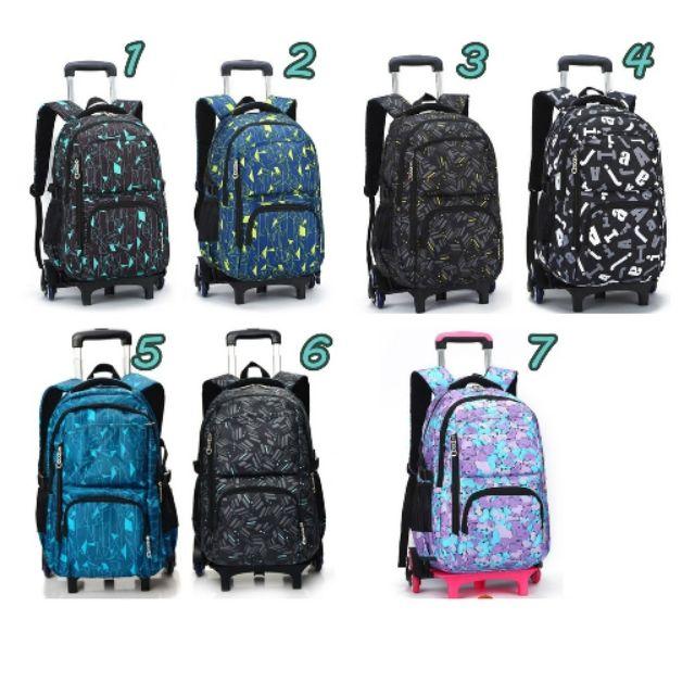 ♡พร้อมส่งบางรุ่น♡ กระเป๋าลาก 6 ล้อ กระเป๋าเป้ ถอดเป้ได้  3 ล้อ กระเป๋าเดินทางล้อลาก กระเป๋าลากเด็ก กระเป๋าลากนักเรียน