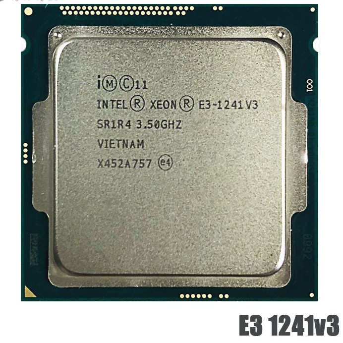 Intel Xeon E3-1241 V 3 E 3 1241 V 3 E 3 E 3 1241 V 3 3 . 5 Ghz Quad - Core Eight - Core Cpu Processor 80 W 3 3 . 5 Ghz 1150 อุปกรณ์เสริมคอมพิวเตอร์