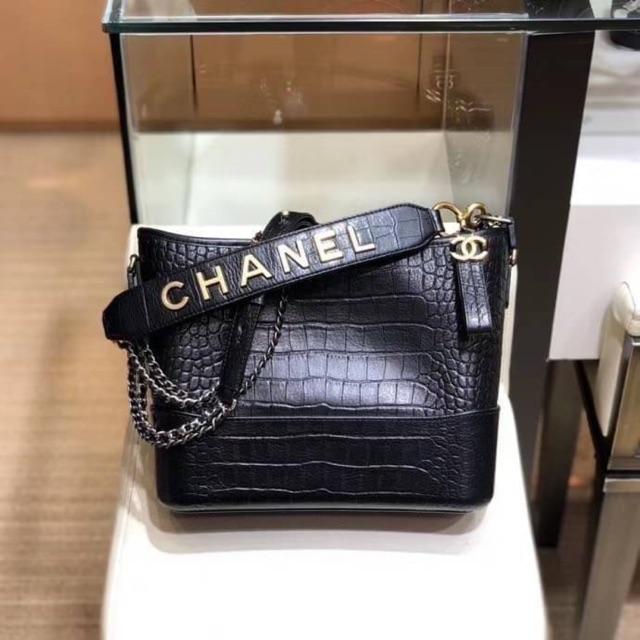 Chanel Gabrielle Crocodile skin Hobo bag