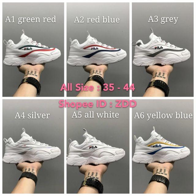2018 Korea Fila X Folder Ray รองเท้าผู้ชาย รองเท้าผู้หญิง รองเท้ากีฬา แท้ รองเท้าผ้าใบ รองเท้าวิ่ง รองเท้าแฟชั่น รองเท้า