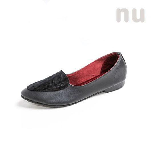 รองเท้าผู้หญิง nuBangkok รองเท้าคัชชู หัวแหลม รุ่น Loafer Panthera Tigris Black