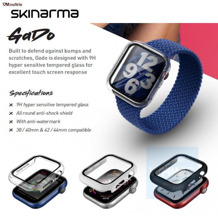 Moultrie◑⊙Skinarma Apple Watch Series SE/6/5/4 เคส AppleWatch Cover 38/40/42/44mm GADO เคสนาฬกาแอปเปิ้ลวอช อุปกรณ์เสริมน