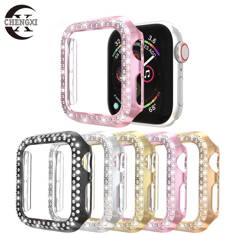 เคสนาฬิกาข้อมือแบบสองแถวสําหรับ Apple Watch Case 38mm 42mm 40mm 44mm