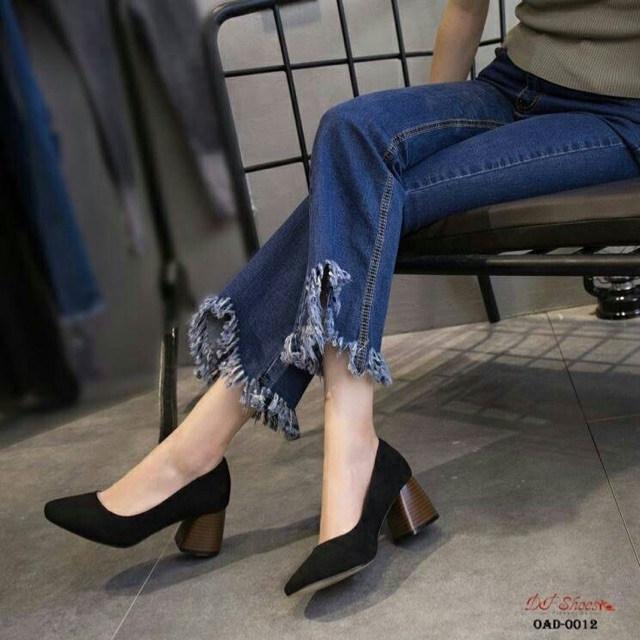 รองเท้าคัชชู (ดำ/กากี/แดง)😍