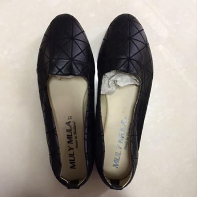 รองเท้าสลิปออนผู้หญิง﹍ รองเท้าคัชชู สีดำ เบอร์37