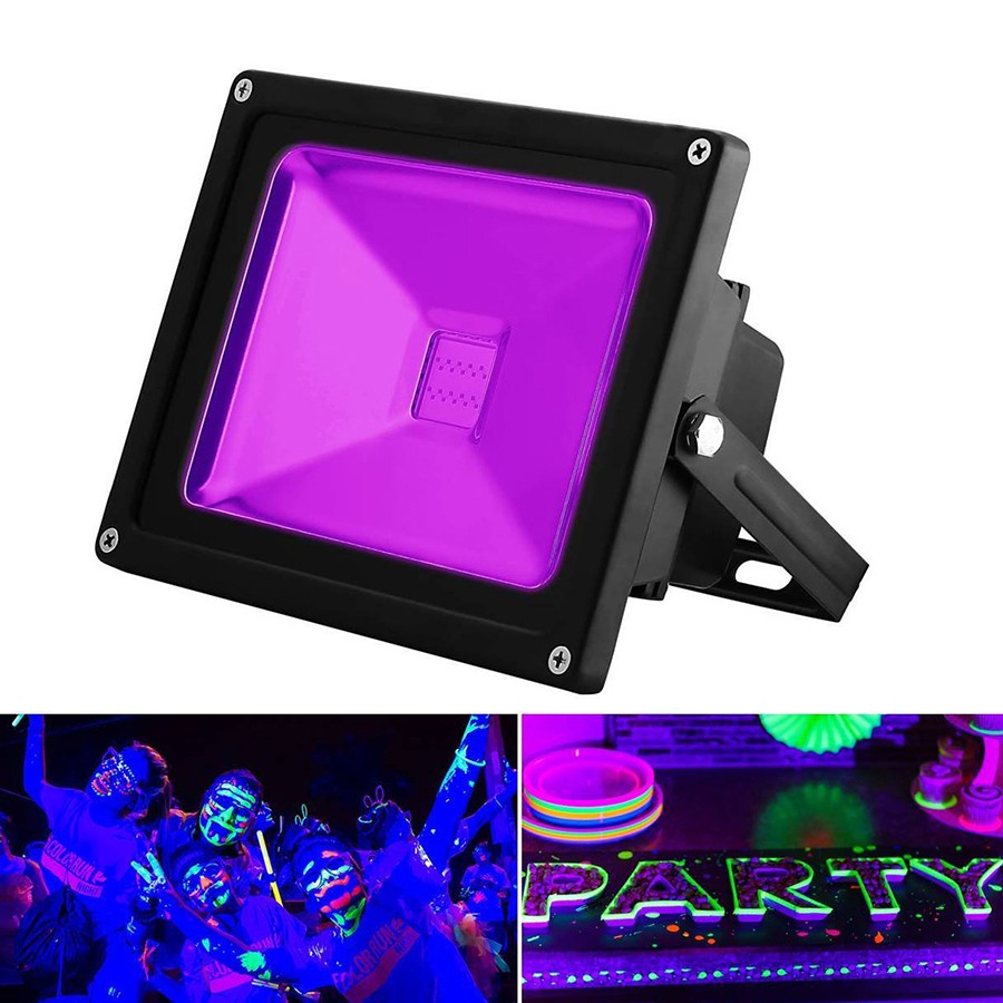 10W 20W 30W 50W Outdoor UV Black Light AC85-265V IP65 Waterproof Ultra Violet LED Flood Light Disco Stage Party Light qR
