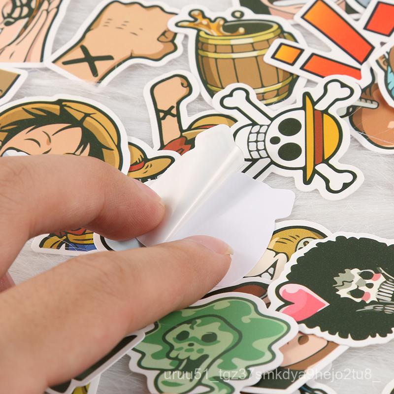 One Pieceการ์ตูนสติกเกอร์ กระเป๋าเดินทางกันน้ำLufeiสติกเกอร์โน๊ตบุ๊คโทรศัพท์มือถือipadภาพวาดสติกเกอร์ 2bsQ