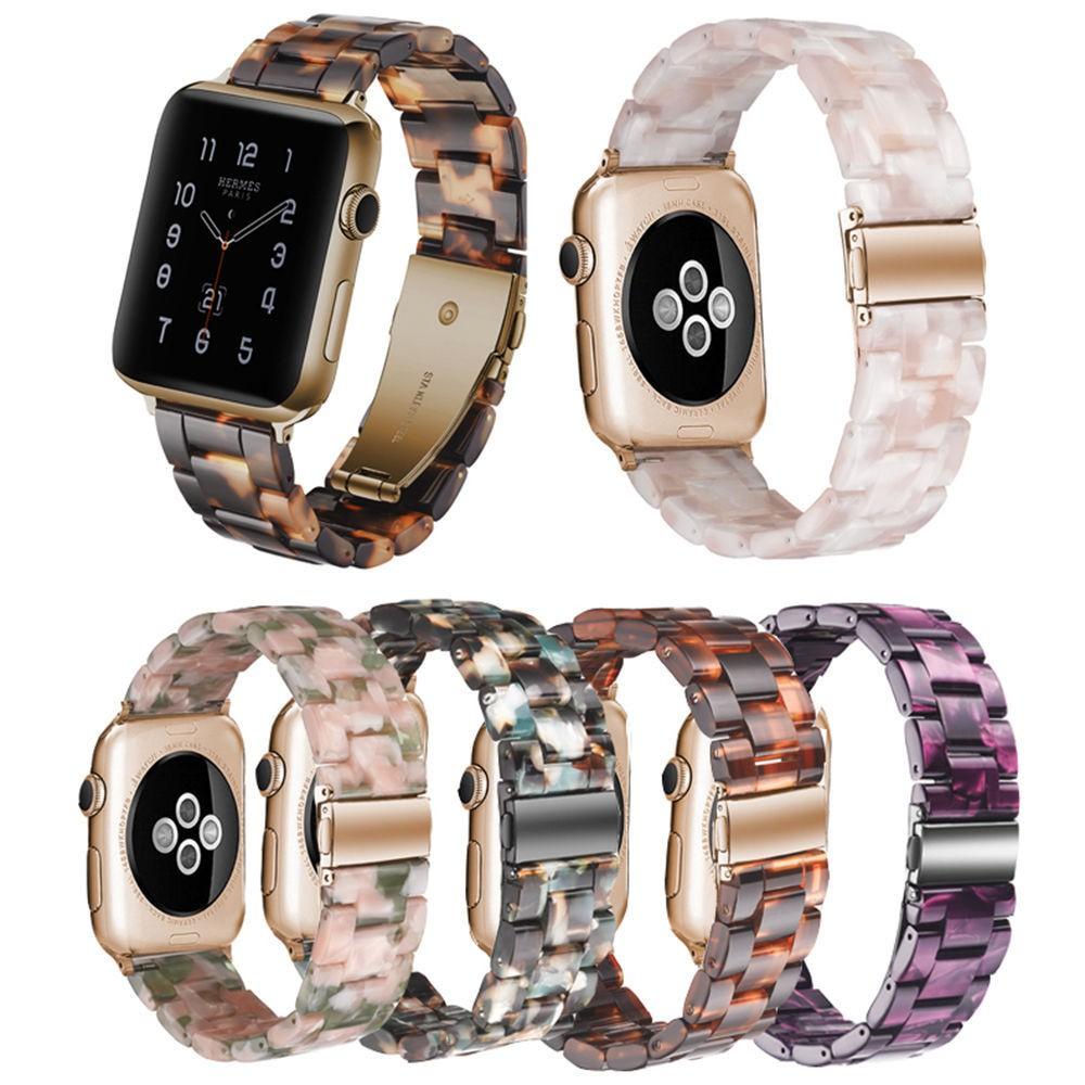 สายนาฬิกาข้อมือเรซิ่นสําหรับ Applewatch 5/4/3/2 Applewatch 40/42/44 มม.