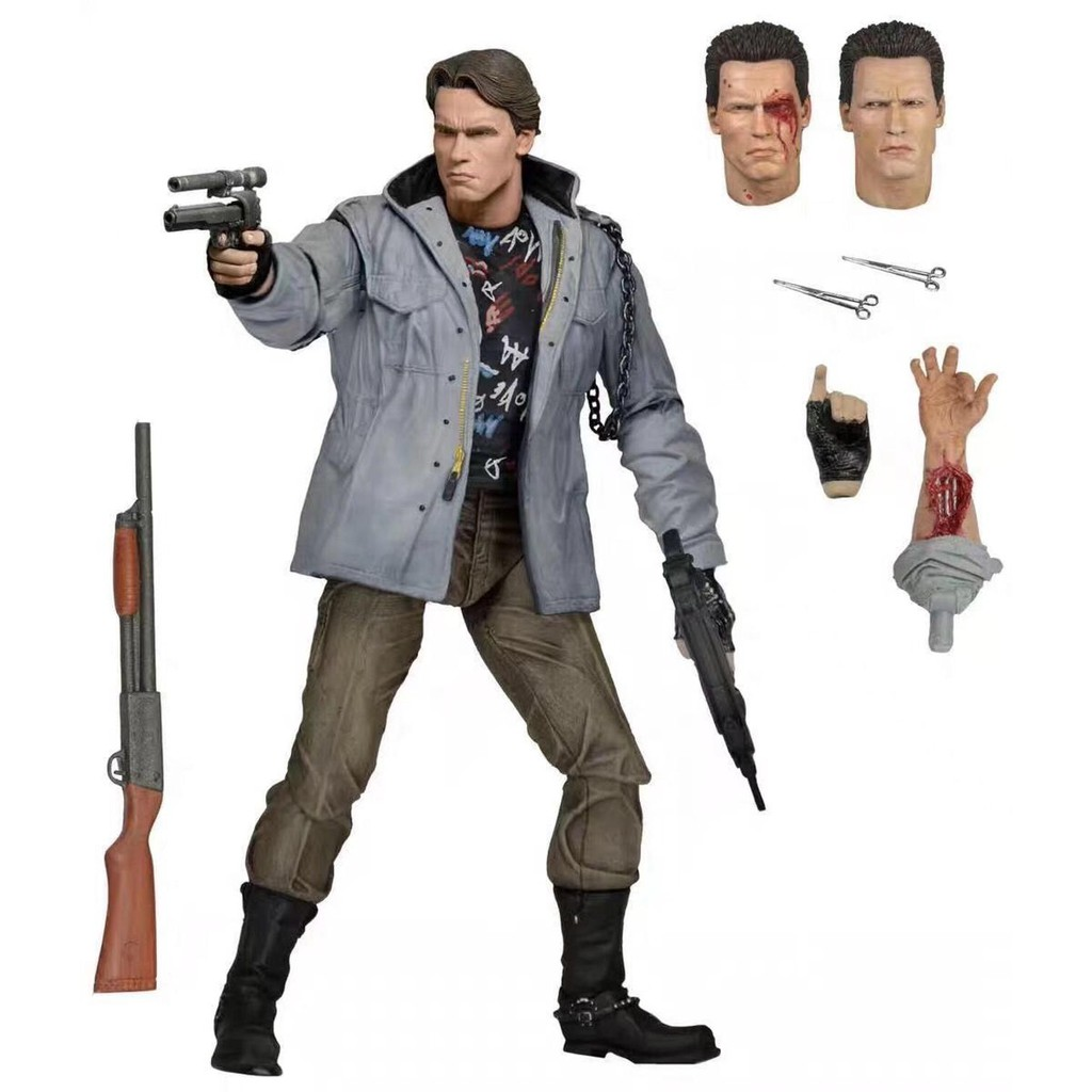 18CM The Terminator Figure War Damage Version Arnold Schwarzenegger Judgment Day T800 Action Figure Collectible Model To