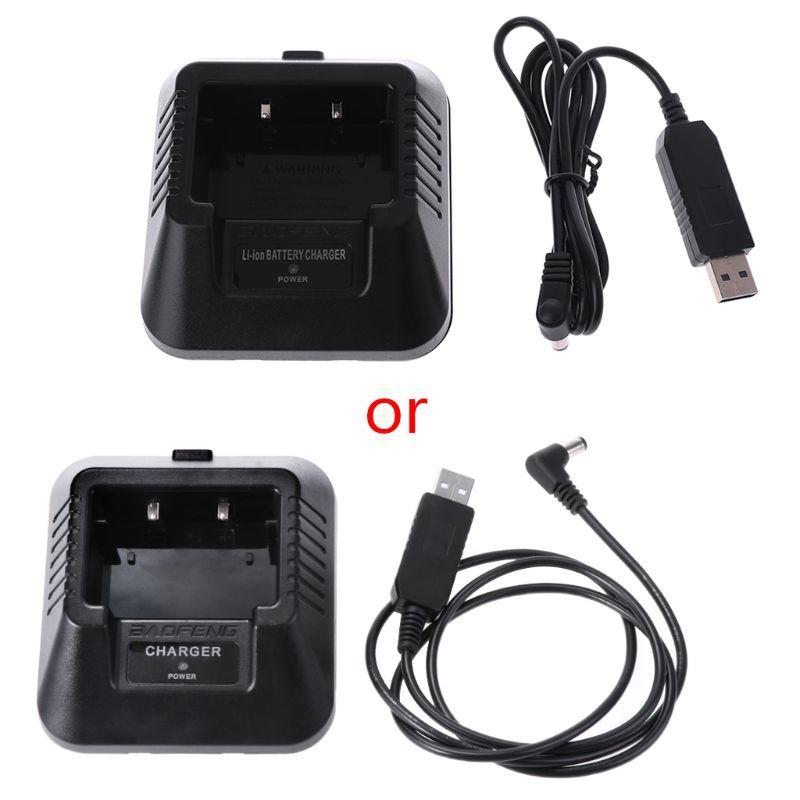 UV-5R USB Charger for Baofeng UV-5R UV-5RE DM-5R Walkie Talkie Ham Radio