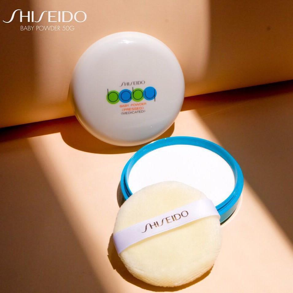 Shiseido Baby Powder Pressed Medicated :: แป้งฝุ่นอัดแข็ง แป้งชิเซโด้จากญี่ปุ่น   Shopee Thailand