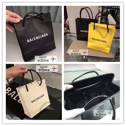 แบรนด์ใหม่ของแท้ BALENCIAGA Shopping XXS กระเป๋าหนังกระเป๋าช้อปปิ้งกระเป๋าสะพายก