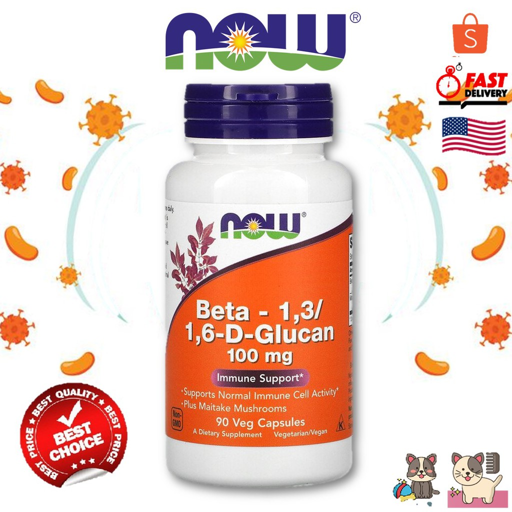 Now Foods  Beta-1,3/1,6-D-Glucan  immune support 100mg/90 Capsule
