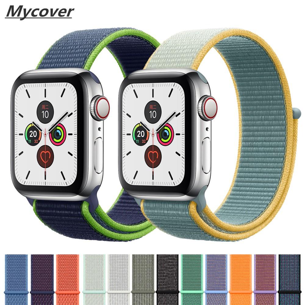 สายนาฬิกาข้อมือไนล่อนสําหรับ apple watch band 44mm 42mm iwatch series 5 4 3 2 1 band 42mm 38mm