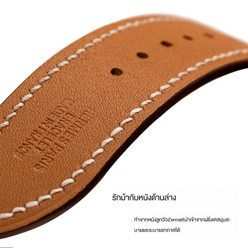 ┅⊕【ลดกระหน่ำ】สาย Apple❆❡✷ใช้ได้กับ iwatch6 / SE 5/4 รุ่น Hermes Apple Watch สาย applewatch3 สายหนัง 40/44 มม.