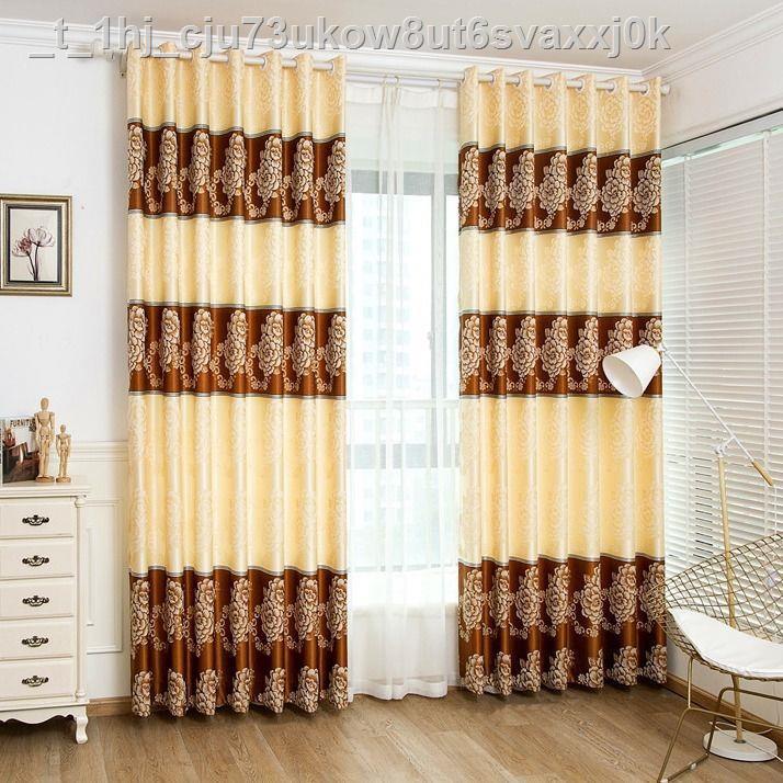✒✖ผ้าม่านสำเร็จรูปสีเงินผ้าม่าน jacquard ประจุบวกห้องนอนห้องนั่งเล่นให้เช่าผ้าม่านผ้าม่านชั้นลดราคา
