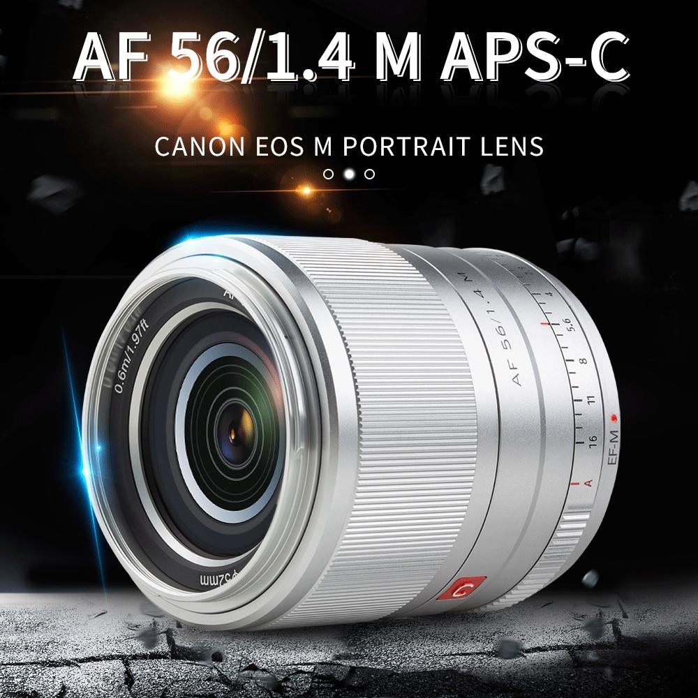 Viltrox 56 mm F 1 . 4 Ef - M เลนส์รูรับแสงอัตโนมัติ Aps - C Prime สําหรับกล้อง Canon Eos M 5 M 10 M 200 M 50 M 6 M 50 M 6