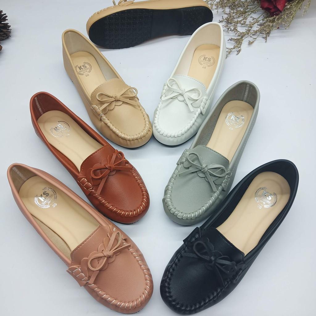 [HOT?พร้อมส่ง รหัส812] รองเท้าส้นแบน รองเท้าคัทชู คัชชู รองเท้าหุ้มส้น รองเท้าใส่ทำงาน หนังนุ่ม สไตล์โลฟเฟอร์