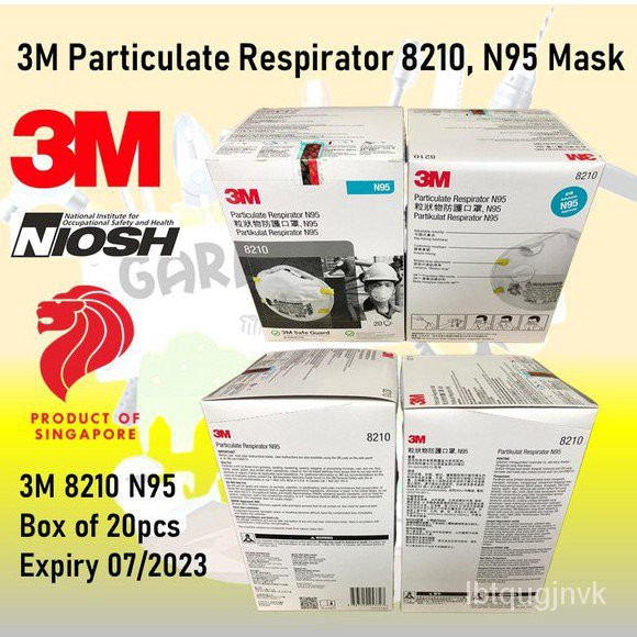 lsmo 3M Particulate Respirator 8210, N95 Mask (20pcs/box)