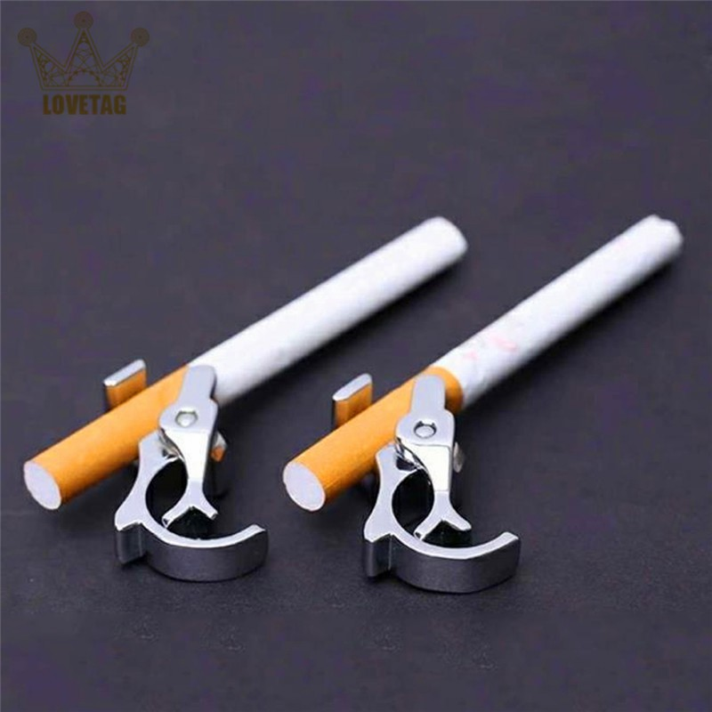 LT New Design Durable Gold Plated Alloy Cigarette Holder Adjustable Ring